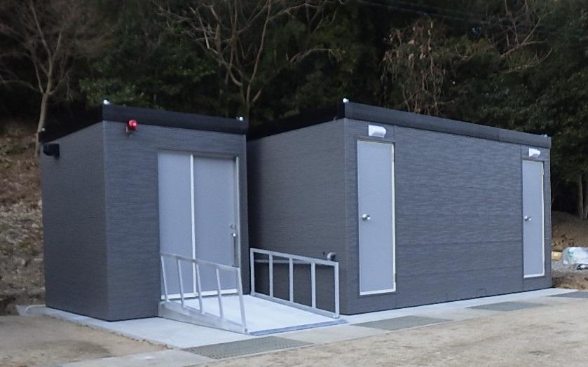 鳴門市総合運動公園のトイレが新しくなりました