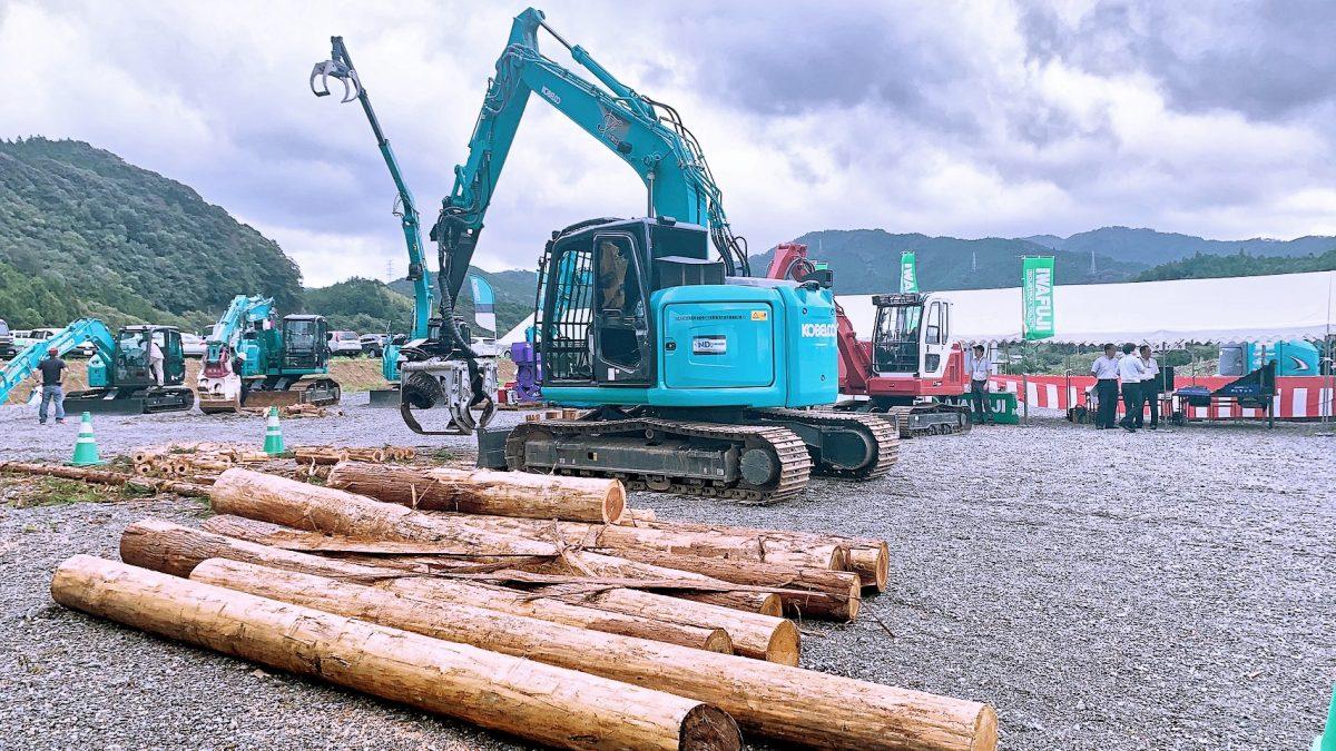 2019最新林業機械 見学試乗会の様子